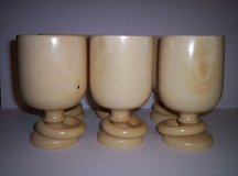 Hand Turned Wooden Goblets  Set of 6 in Fort Polk, Louisiana