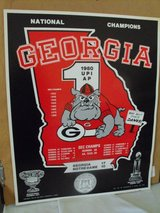 1980 Georgia BULLDOG National Champions Poster in Warner Robins, Georgia