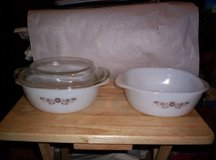 1960's PYR-O-REY DYNAWARE CASSEROLE BOWLS WITH LID, FITS BOTH in Camp Lejeune, North Carolina