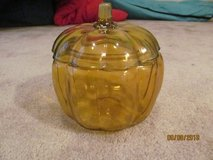 Glass pumpkin jar with lid in Fort Benning, Georgia